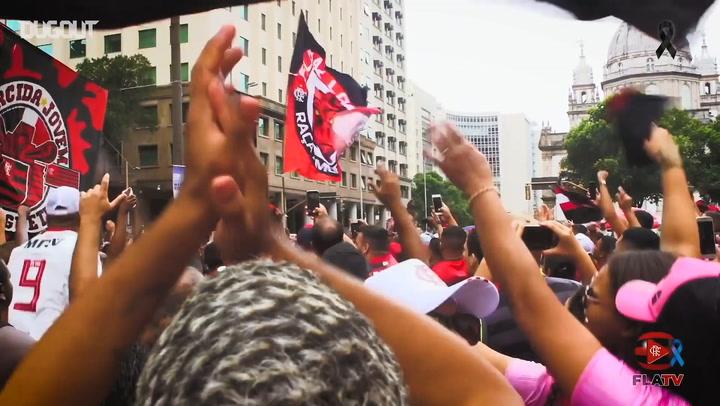 Flamengo arrive in Rio de Janeiro after Libertadores title win