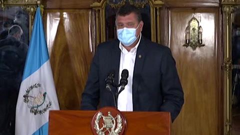 Presidente y vicepresidente de Guatemala se reconcilian y piden diálogo ante crisis