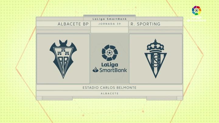 LaLiga SmartBank (J39): Resumen y goles del Albacete 1-1 Sporting