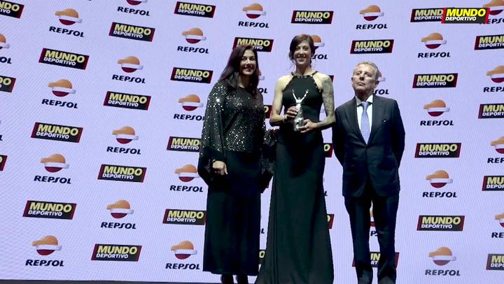 Jennifer Hermoso recoge el premio a la mejor deportista del año en la Gran Gala de Mundo Deportivo