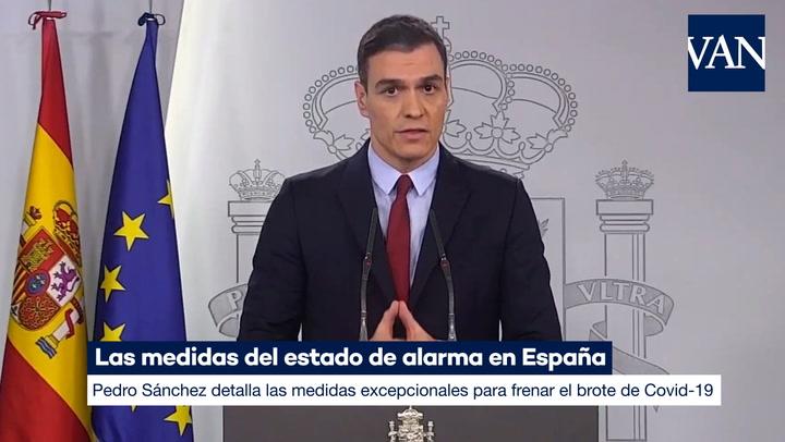 Estas son las medidas del estado de alarma en España por el coronavirus