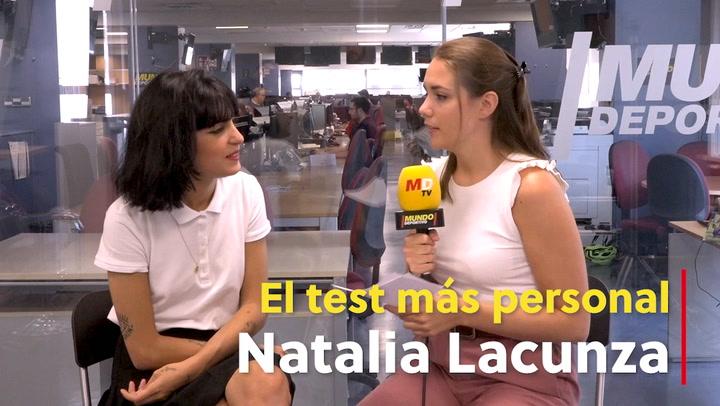 """El test más personal de Natalia Lacunza: """"Me gustaría llenar el Bernabéu"""""""