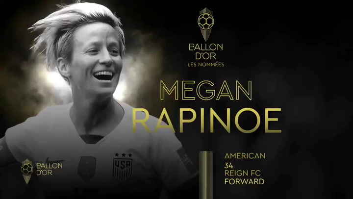 Megan Rapinoe, ganadora del Balón de Oro femenino