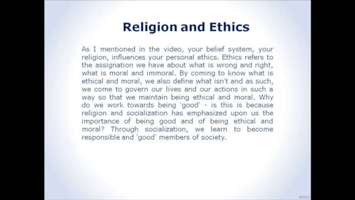 ethics and religion relationship questions