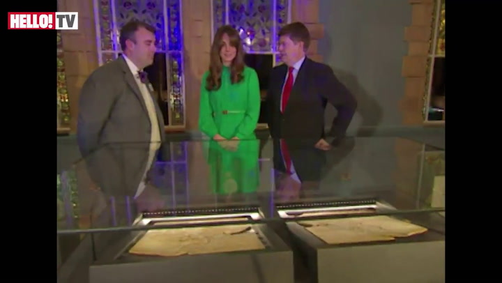 Kate opens Treasure Exhibit at National History Museum