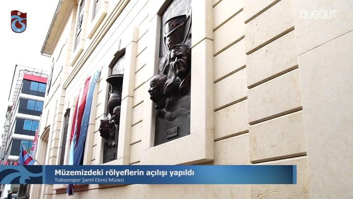 Trabzonspor Müzesinde Rölyef Açılışı