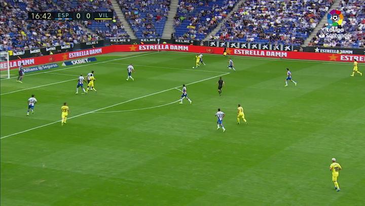 Gol de Ekambi (0-1) en el Espanyol 0-1 Villarreal