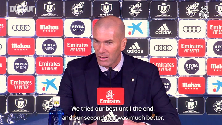 Zidane: 'We have to pick ourselves up and keep going'