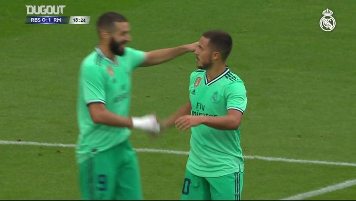 Eden Hazard Scores His First Real Madrid Goal