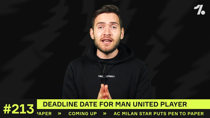 Deadline date is SET for which Man United star?
