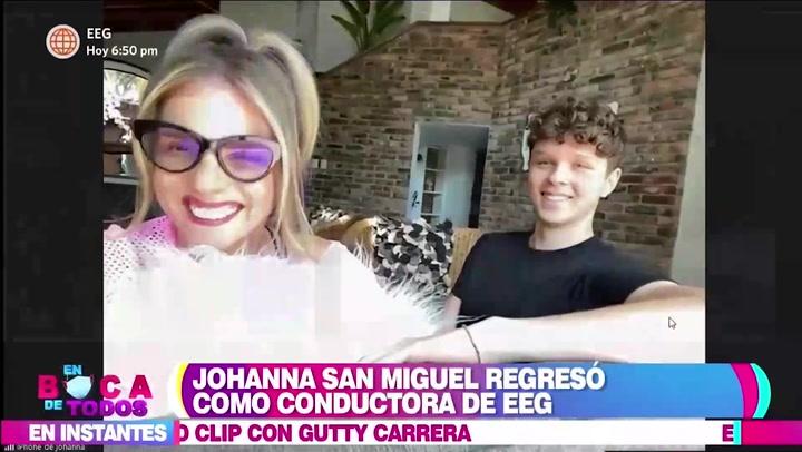 Johanna San Miguel presentó a su hijo en televisión y revela que quiere ser cirujano plástico