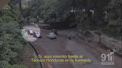 Cámaras del 911 graban persecución de pandilleros de la 18 en Tegucigalpa