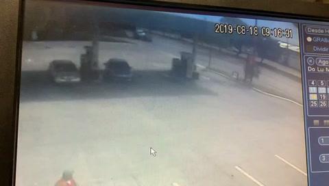 Así fue el accidente en gasolinera de San Pedro Sula