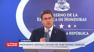 Presidente destaca el legado de José Rafael Ferrari