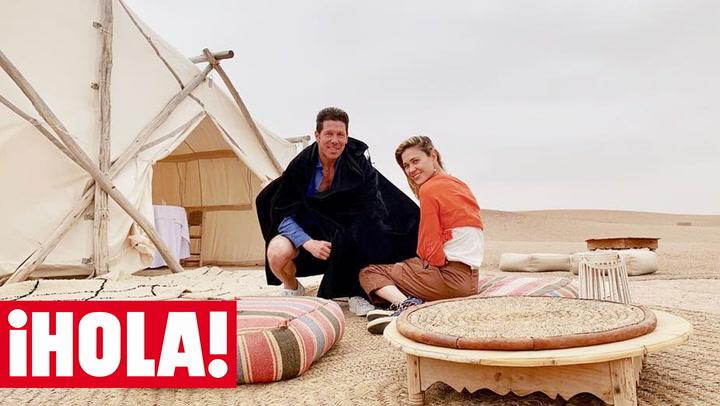 Excursiones en dromedario, paseos por el desierto... Las mil y una noches de Carla Pereyra y Simeone