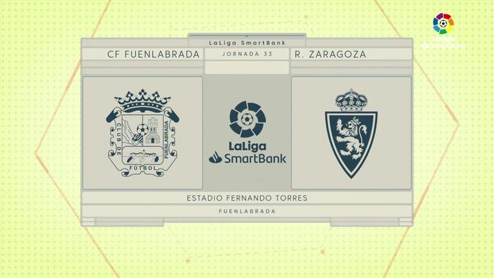 LaLiga SmartBank (J33): Resumen y gol del Fuenlabrada 0-1 Zaragoza