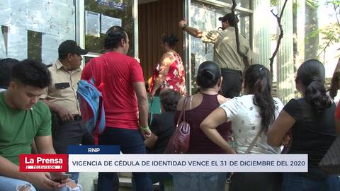 La vigencia de cédula de los hondureños vence el 31 de diciembre del 2020