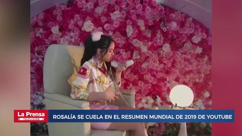 Rosalía se cuela en el resumen mundial de 2019 de YouTube