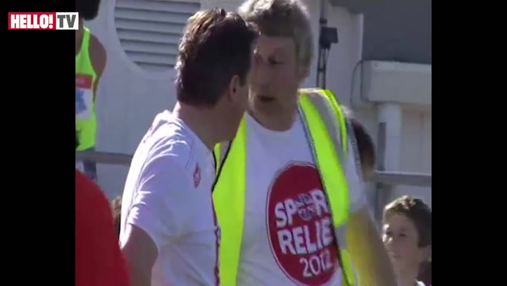 David and Samantha Cameron take part in the Sports Relief mile