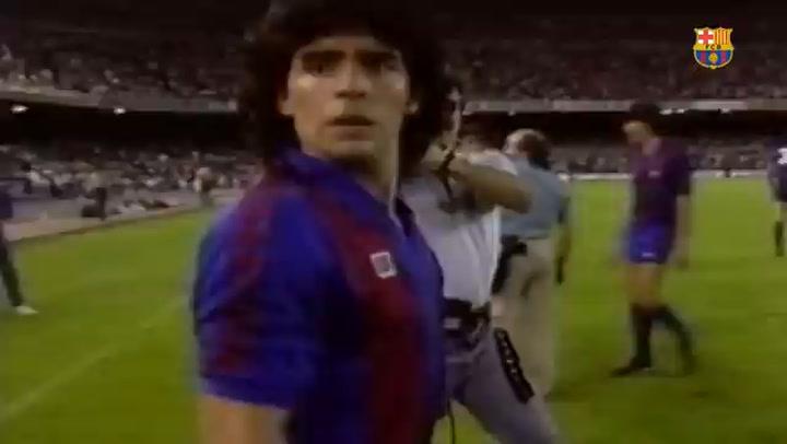 El Barça recuerda a Maradona (1982-84)