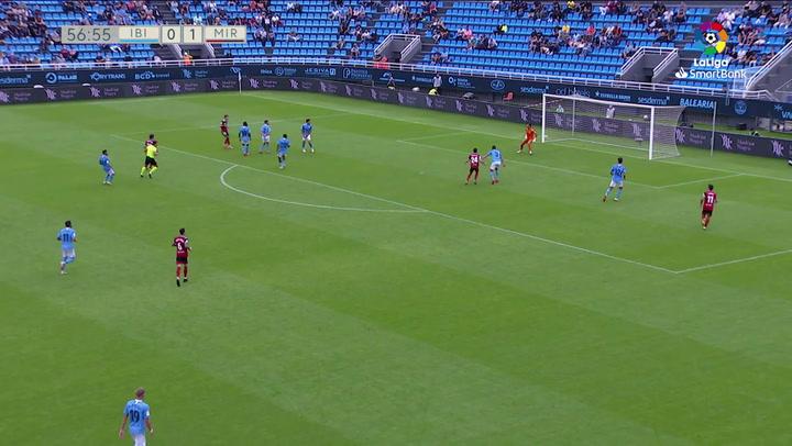 Gol de Iñigo Vicente (0-2) en el Ibiza 0-2 Mirandés