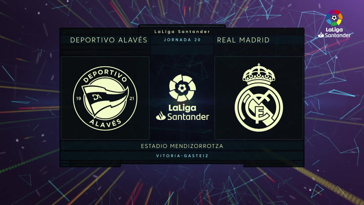 LaLiga Santander (J20): Resumen y goles del Alavés 1-4 Real Madrid