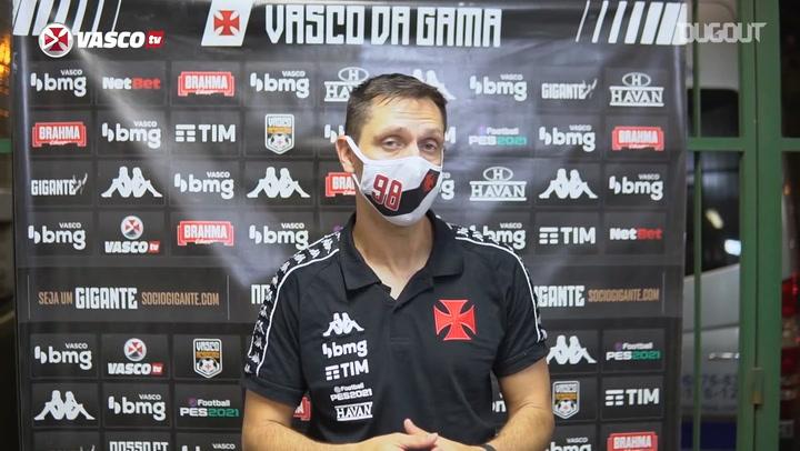 Diogo Siston avalia desempenho do Vasco contra o Volta Redonda