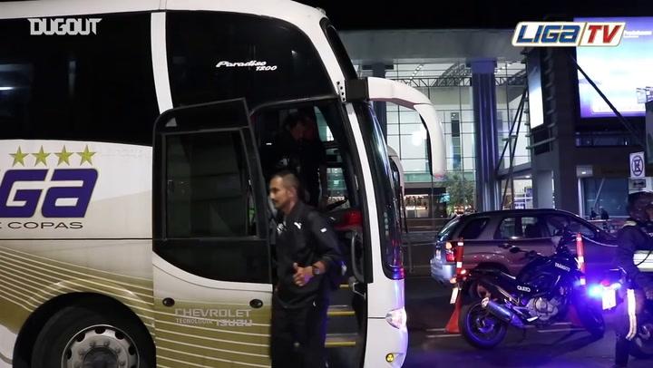 LDU Just Arrived To Cali For The Copa Sudamericana