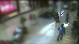 Surveillance footage of Fashion Show Mall shooting