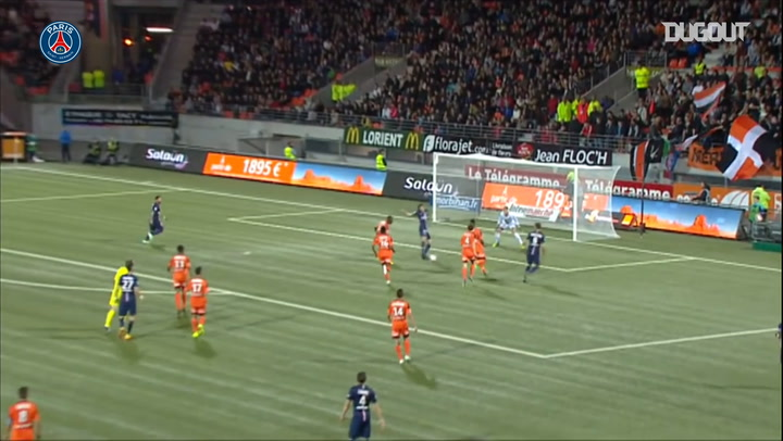 Cavani finishes off team move against Lorient in 2014