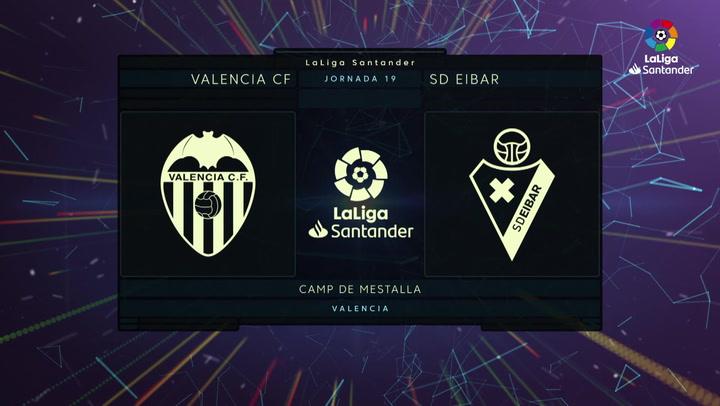 LaLiga (J19): Resumen y goles del Valencia 1-0 Eibar