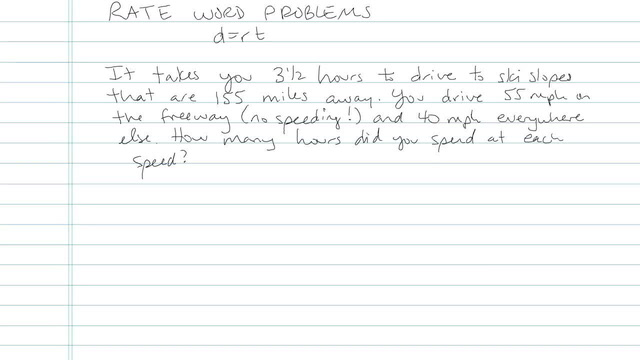 Rate Word Problems - Problem 6