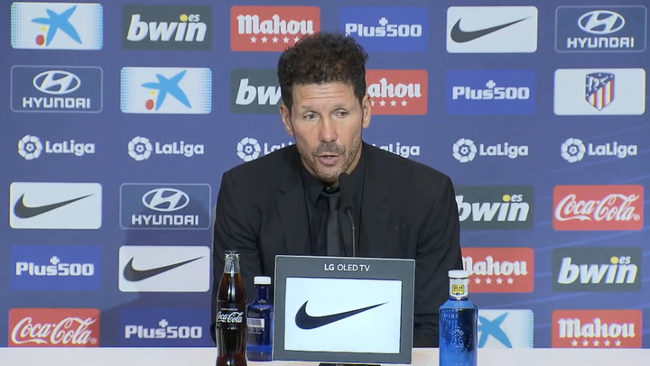 Simeone en rueda de prensa tras el empate ante el Celta