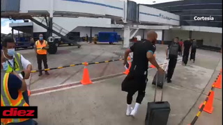 Saprissa arriba a Tegucigalpa con su plantilla estelar para enfrentar a Marathón en Liga de Concacaf