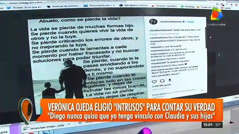 Verónica Ojeda se quebró en llanto al hablar de Maradona