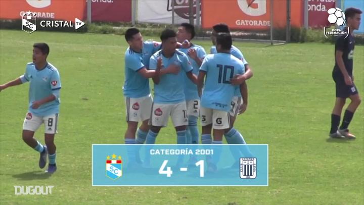 La cantera del Sporting Cristal triunfa en la Copa Federación Lima 2019