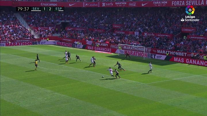 Gol de Suso (2-2) en el Sevilla 2-2 Espanyol