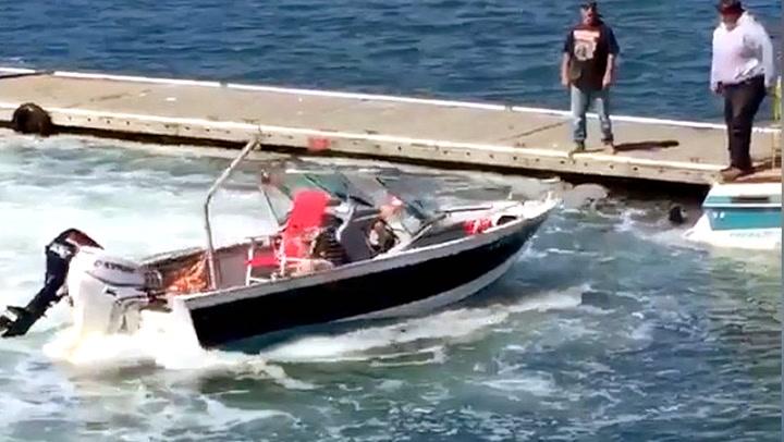 Løpsk båt skapte kaos på kaia