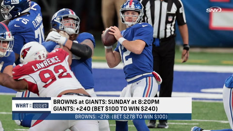 What are the odds the Giants beat the Browns without Daniel Jones?