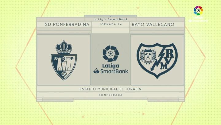LaLiga SmartBank (J24): Resumen y goles del Ponferradina 1-1 Rayo Vallecano