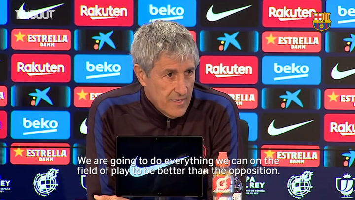 Quique Setién: 'There are problems in every club in the world.'