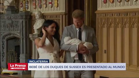 Bebé de los Duques de Sussex es presentado al mundo