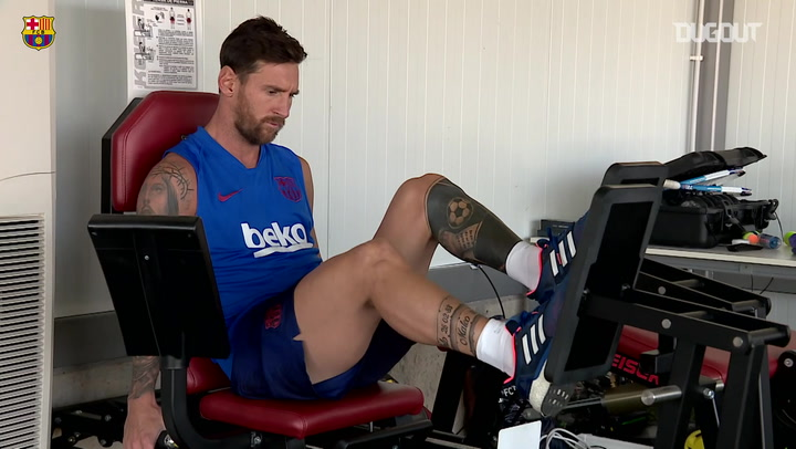 Messi continues recovery process at the Ciutat Esportiva