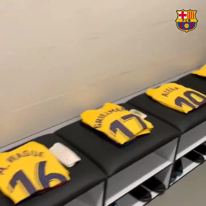 El Barça ya tiene preparada su cuarta equipación en el vestuario del Wanda Metropolitano