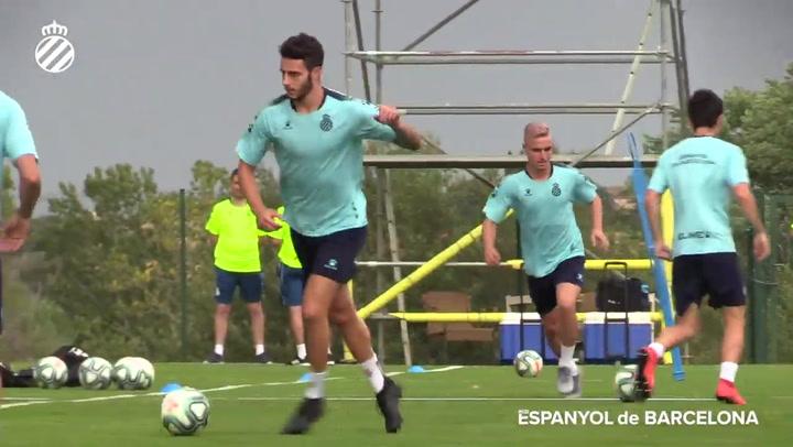 Primer entrenamiento del Espanyol en Navata