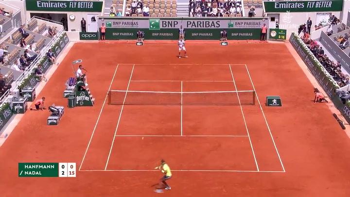 Rafael Nadal debutó con victoria ante el alemán Yannick Hanfmann