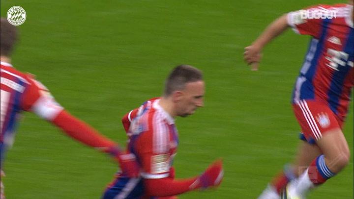 Franck Ribéry doubles FC Bayern's lead vs FC Köln