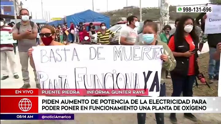 Vecinos piden elevar la potencia eléctrica para poner en funcionamiento planta de oxigeno