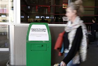 Pot amnesty boxes greet travelers at Las Vegas airport