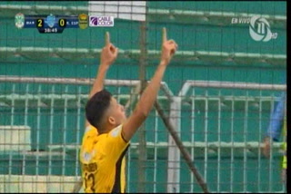 ¡GOOOOL DE REAL ESPAÑA! Ángel Tejeda saca un remate cruzado y manda a silenciar al estadio Yankel Rosenthal